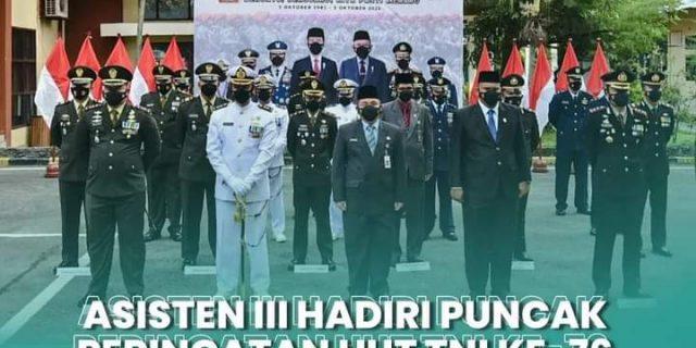 Asisten III bidang Administrasi Umum, Hadiri Puncak Peringatan Hari Ulang Tahun (HUT) TNI ke-79 Tahun 2021 Tingkat Kota Dumai
