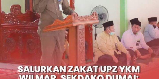 Salurkan Zakat UPZ YKM Wilmar, Sekdako Dumai: Ringankan Beban Masyarakat Dumai Terdampak Covid-19