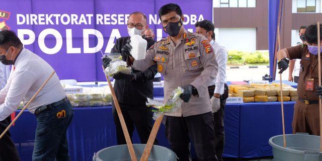 Tim Polda Riau Amankan 87 kg Sabu, Kapolda Ingatkan masyarakat Tak Tergiur Bujuk Rayu Sindikat