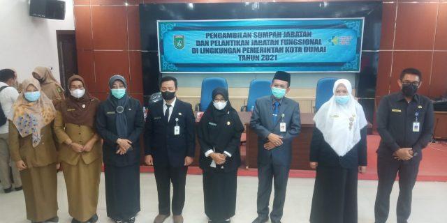 Lantik Pejabat Fungsional dan Sumpah, dr. Ridhonaldi Dampingi Walikota