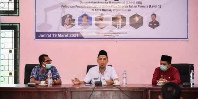 Walikota Dumai Hadiri Latihan Pengelasan Listrik dan Pipa Minyak Tahap Pertama Di Aula Disnaker