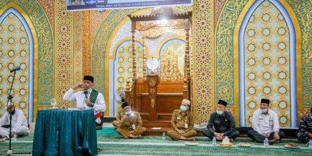 Walikota Dumai H, Paisal, Menghadiri Tabligh Akbar Yang Dilaksanakan di Mesjid Taqwa  Dumai