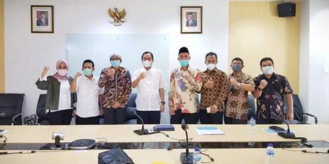 Wali Kota Dumai, H Paisal, SKM, MARS sambangi Kementrian PUPR RI di Jakarta bahas Penyediaan Air Bersih. Jum'at, 26 Maret 2021