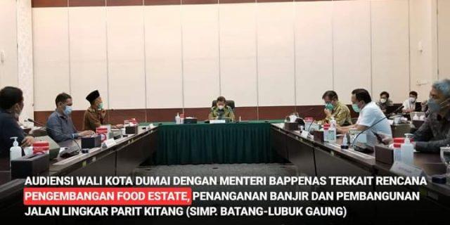 Wali Kota Dumai H. Paisal Hadiri Rapat di Kantor Kementrian/Bappenas RI