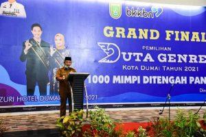 Wakil Walikota Dumai Amris,S .Sy Buka Acara Grand Final Pemilihan Duta Genre Tahun 2021
