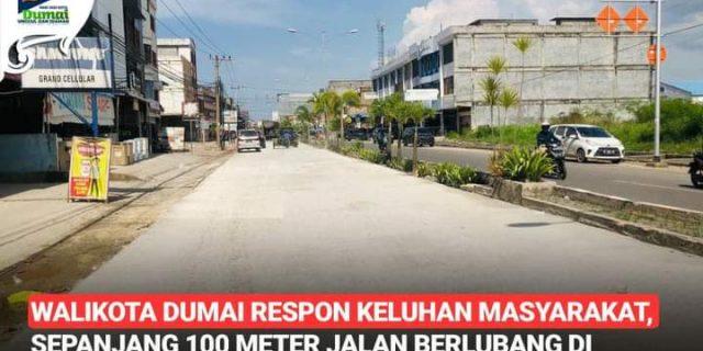 Respon Cepat Keluhan Masyarakat, Walikota Dumai H. Paisal Perintahkan Jalan Hasanuddin Untuk di Betonisasi