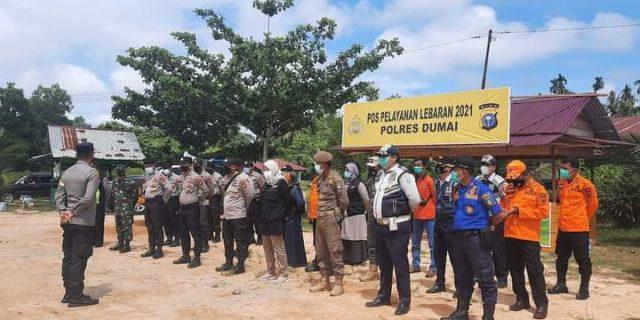 Satuan Tugas (Satgas) Penanganan Covid 19 Kota Dumai Perketat Pengawasan di Sejumlah Pantai Yang Berada di Kecamatan Medang Kampai