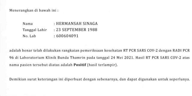 Pencemaran Nama Baik Warga Labura Akan Tuntut Pihak Laboratorium Klinik Bunda Thamrin Hasil Rt Pcr Sars Covid