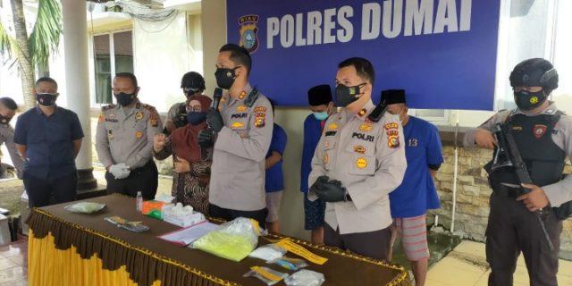 Polres Dumai Berhasil Ungkap Peredaran Narkotika Jenis Sabu Seberat 201,49 Gram Dan 3.258 Butir Pil Ekstasi