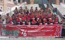 Sambut HUT Kemerdekaan RI ke-76, FKPPI 0404 Bukit Kapur Bagi Masker dan Bendera