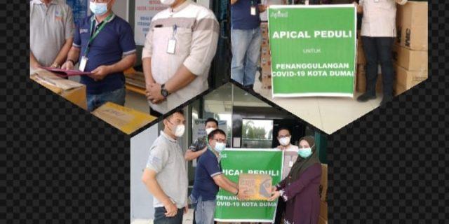 Apical Group Serahkan Bantuan Ke RSUD Dumai Untuk Tenaga Medis Dalam Penanganan Pasein Covid 19